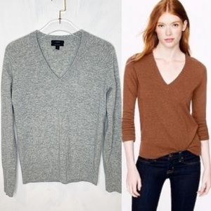 J. Crew Wool Cashmere Blend Classic V Neck Sweater
